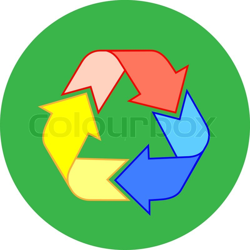 800x800 Vector Recycle Icon Simply Change Stock Vector Colourbox