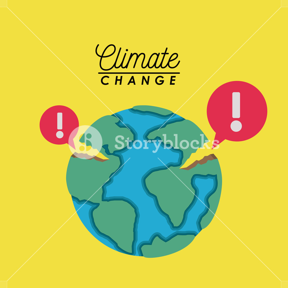 1000x1000 Effects Of Climate Change Vector Illustration Design Royalty Free
