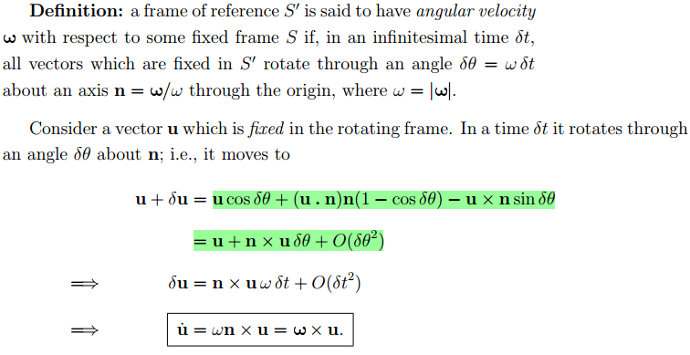 756x389 A Vector In A Rotating Frame. Find The Rate Of Change Of This
