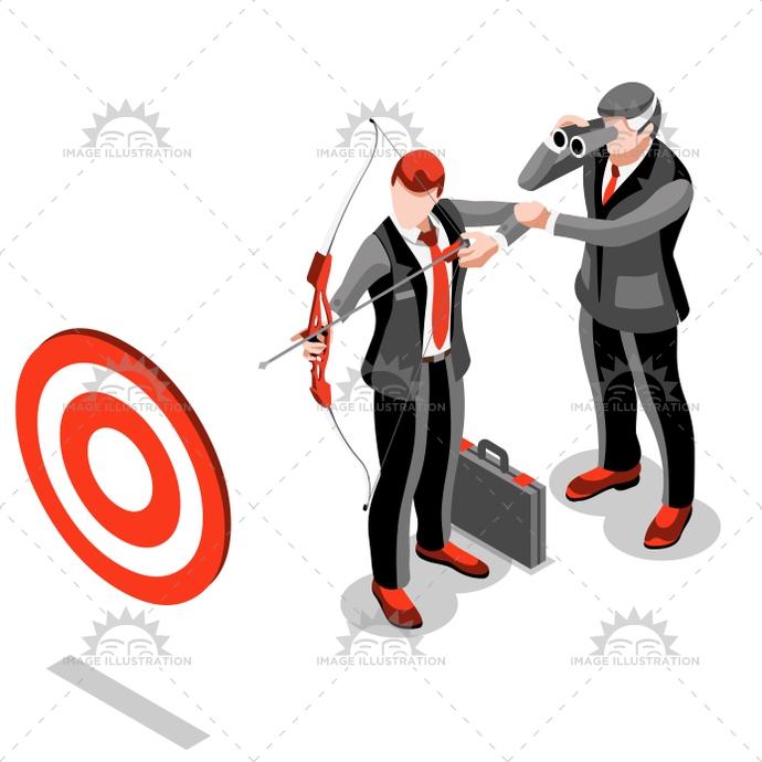 690x690 Ambitious Business Change 18 Job Ambitions Vector Concept