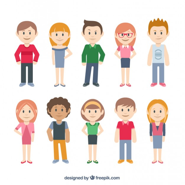 626x625 Casual Characters Vector Free Download