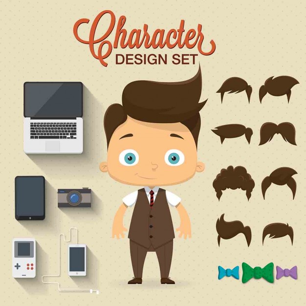 626x626 Character With Complements Vector Free Download