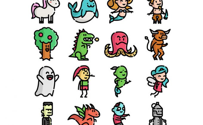 680x420 48 Free Fantastic Fantasy Character Illustrations Vector Set