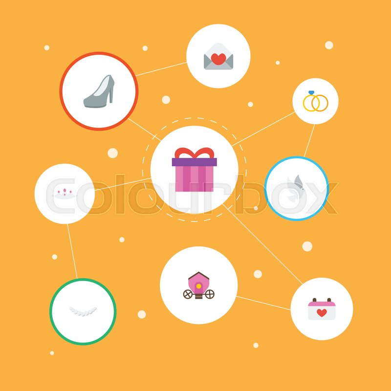 800x800 Flat Icons Jewelry, Chariot, Present And Other Vector Elements