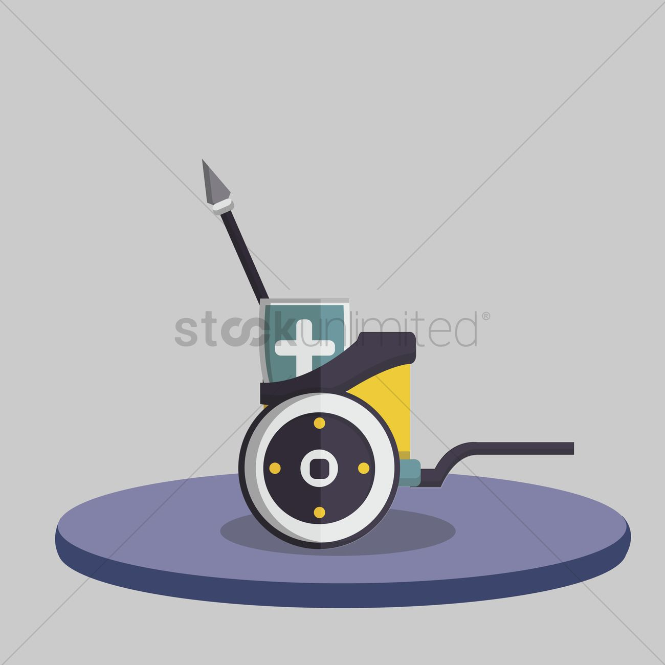1300x1300 Illustration Of A Chariot Vector Image