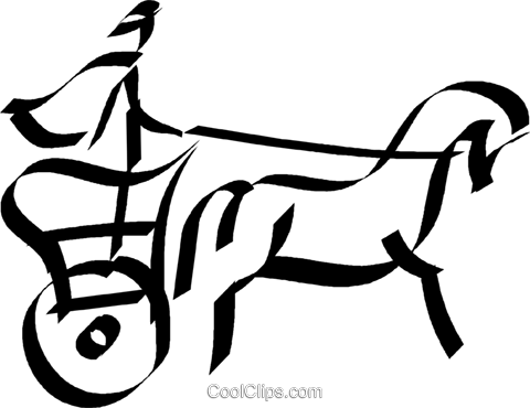 480x370 Roman Chariot Royalty Free Vector Clip Art Illustration Vc044588