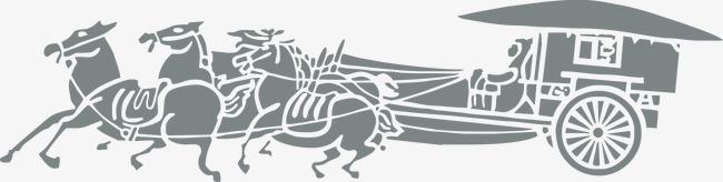 650x164 Vector Ancient Chariot, Ancient Chariot, Vector Image, Classical