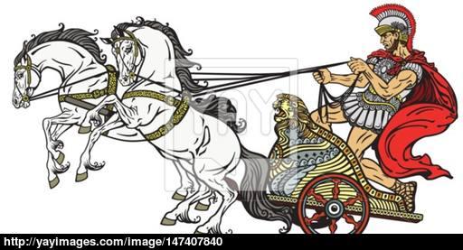 512x277 Roman Chariot Vector