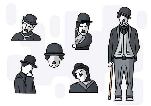 Charlie Chaplin Vector At Getdrawings Com Free For Personal Use