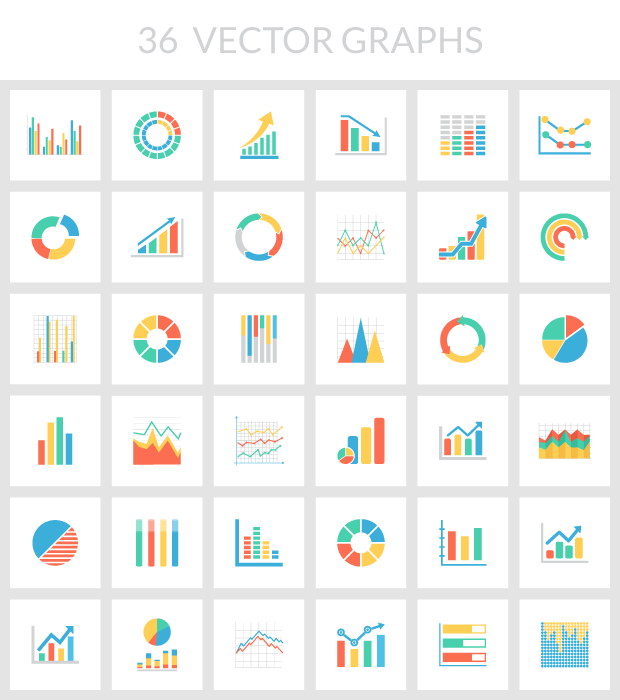 620x700 Free Collection Of 36 Vector Graphs Amp Charts
