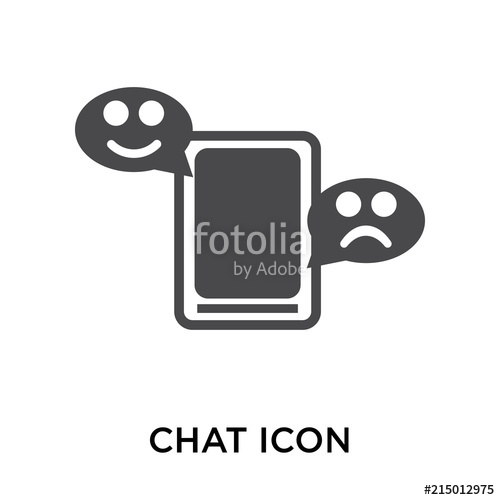500x500 Chat Icon Vector Sign And Symbol Isolated On White Background