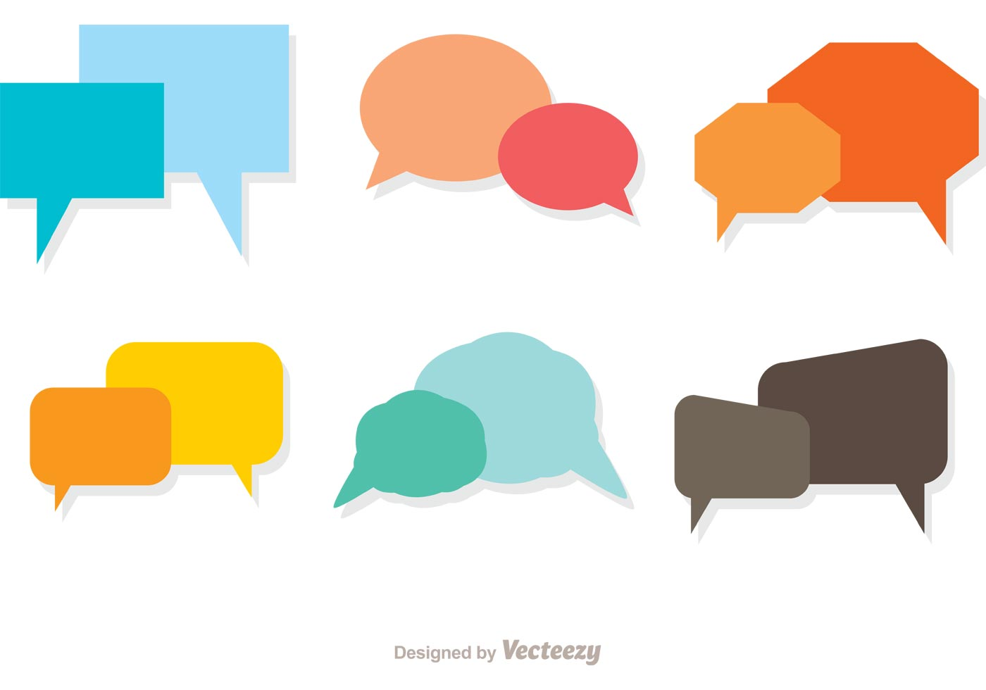 1400x980 Colorful Live Chat Icons Vector Pack
