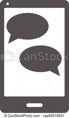 277x470 Mobile Chat Icon Vector Simple. Mobile Chat Icon. Simple