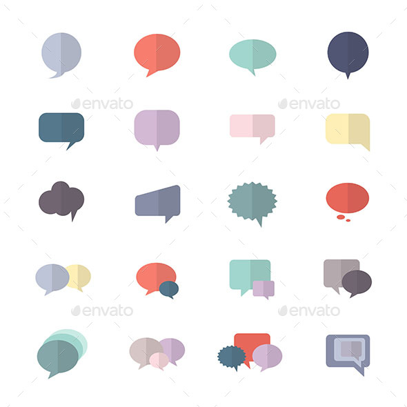 590x590 Speech Bubble And Chat Icon Set Of Abstract Vector Style Colorful