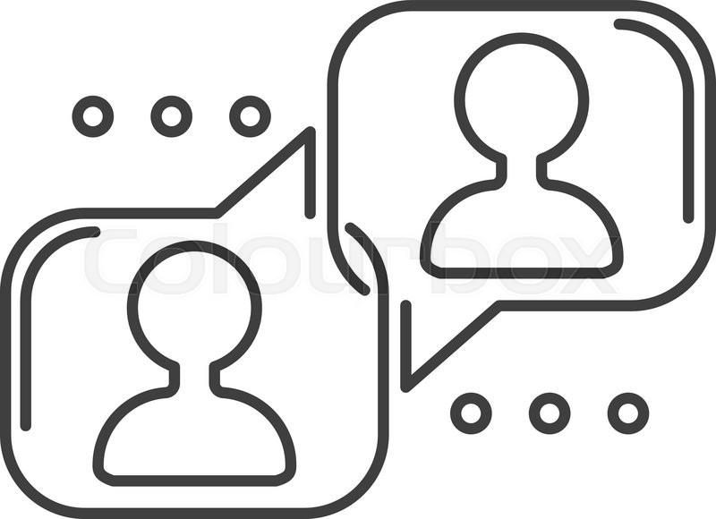 800x580 Speech Bubble Icon Communication Symbol Talk Element Message Chat