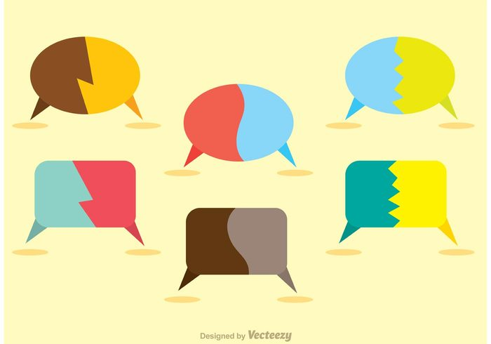 700x490 Split Live Chat Icons Vector Pack 147943