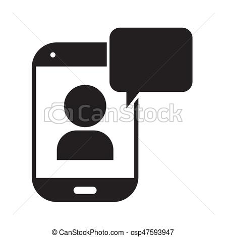 450x470 Telephone Chat Icon Vector Illustration Design. Telephone Chat