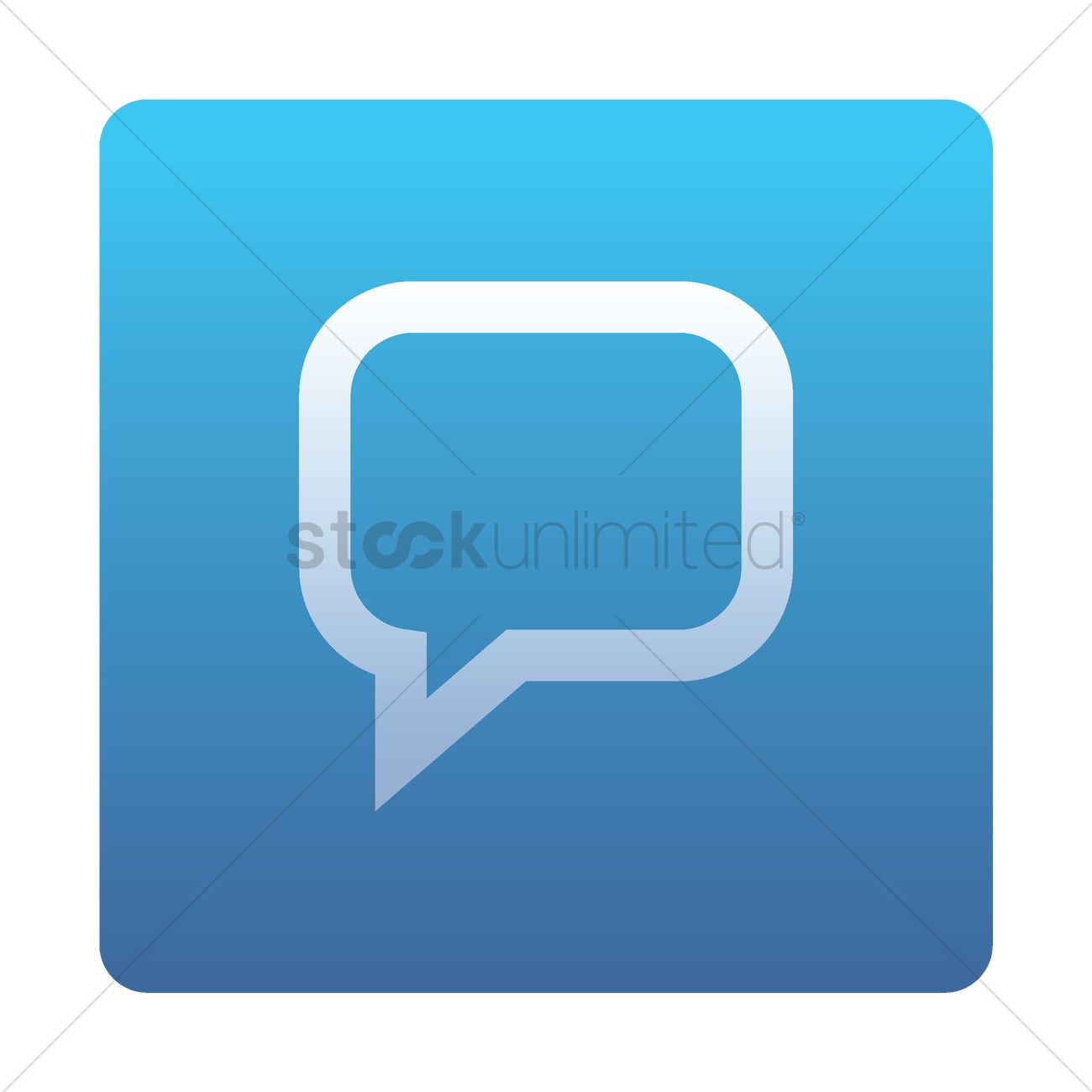 1300x1300 Chat Icon Vector Image