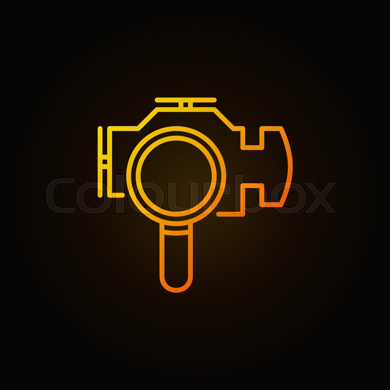 800x800 Magnifying Glass With Check Engine Yellow Icon. Vector Engine