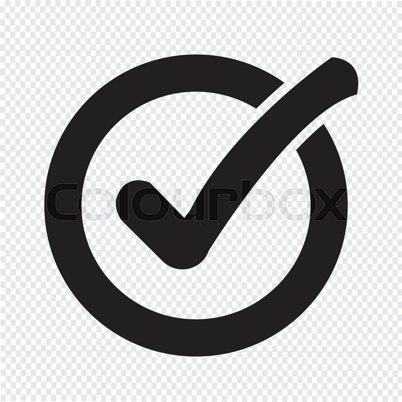 800x800 Check List Button Icon Stock Vector Colourbox