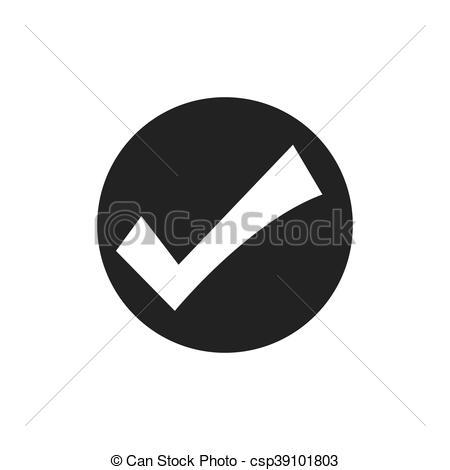 450x470 Check Mark Button Seal Stamp Icon. Vector Graphic. Check Mark