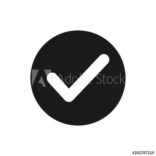 500x500 Check Mark Icon. Check Icon Vector. Check List Button Icon