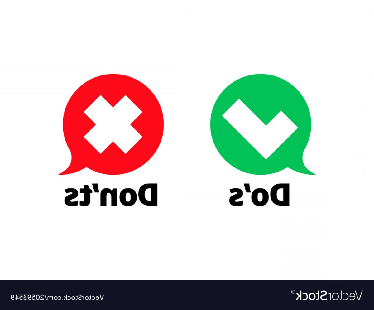 1200x994 Do And Dont Check Tick Mark Red Cross Icon Vector Sohadacouri