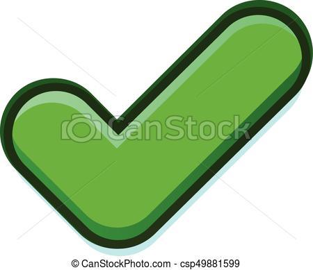 450x389 Green Check Vector Icon. Vector Illustration Of A Green Check Sign