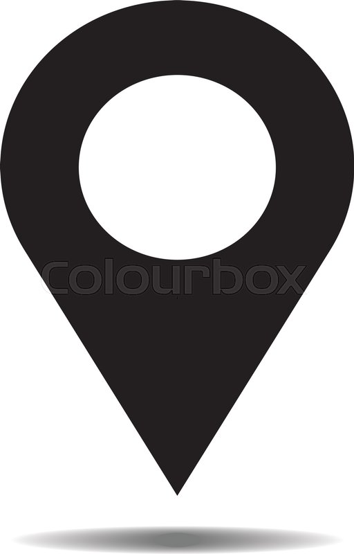 512x800 Location Icon Vector. Pin Sign Isolated On White Background