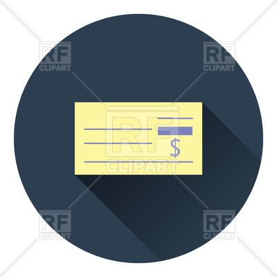400x400 Bank Check Icon Vector Image Vector Artwork Of Business, Finance