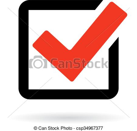 450x433 Red Check Box Icon Isolated On White Background.