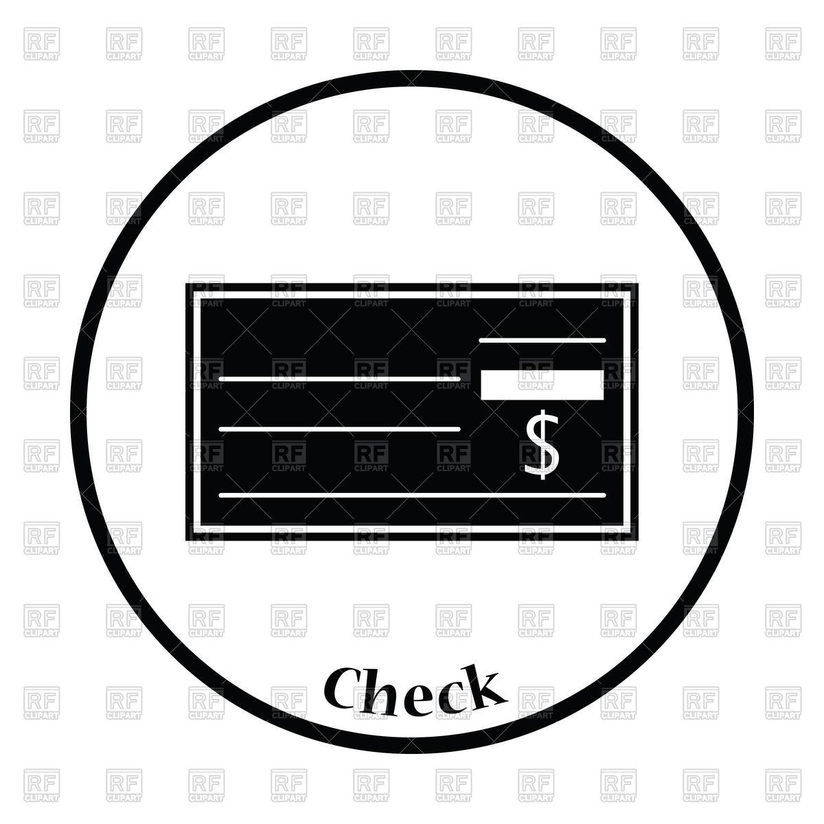 1200x1200 Thin Circle Design Of Bank Check Icon Vector Image Vector