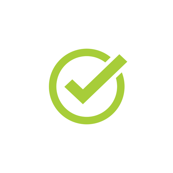 591x591 Tick Icon Vector Symbol, Green Checkmark Isolated, Checked Icon Or