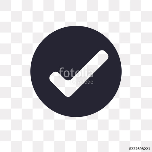 500x500 Check Mark Vector Icon Isolated On Transparent Background, Check