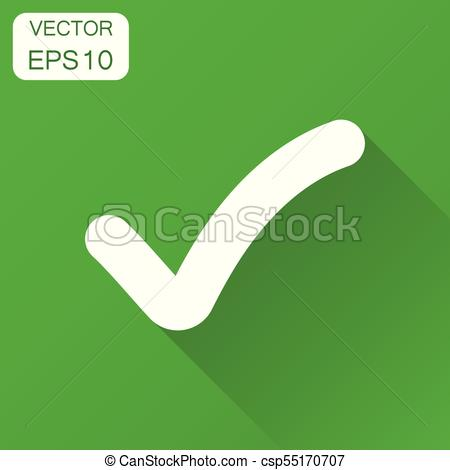 450x470 Check Mark Icon. Business Concept Tick, Yes, Ok, Accept Pictogram