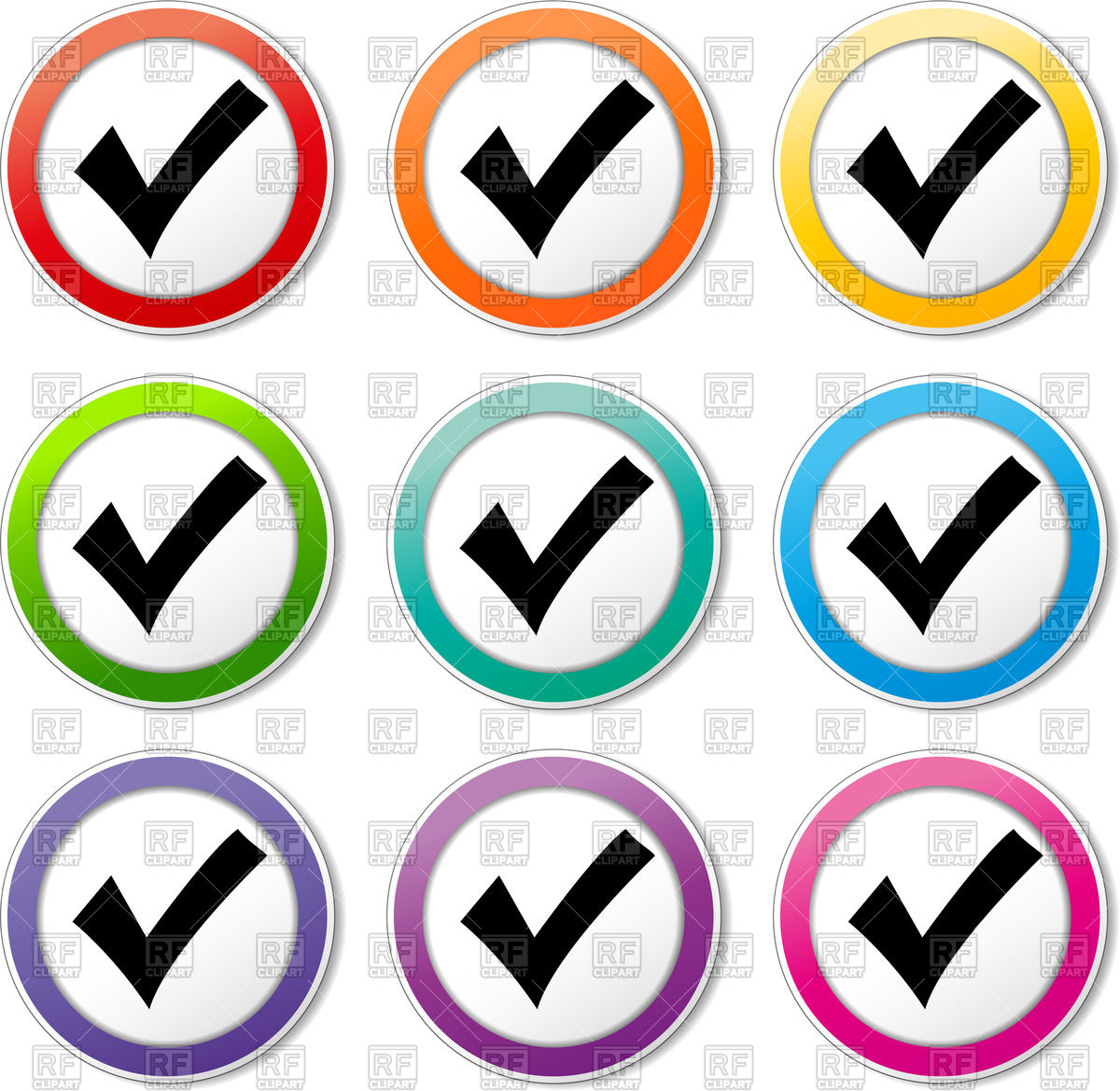 1200x1169 Check Mark Icons Vector Image Vector Artwork Of Icons And