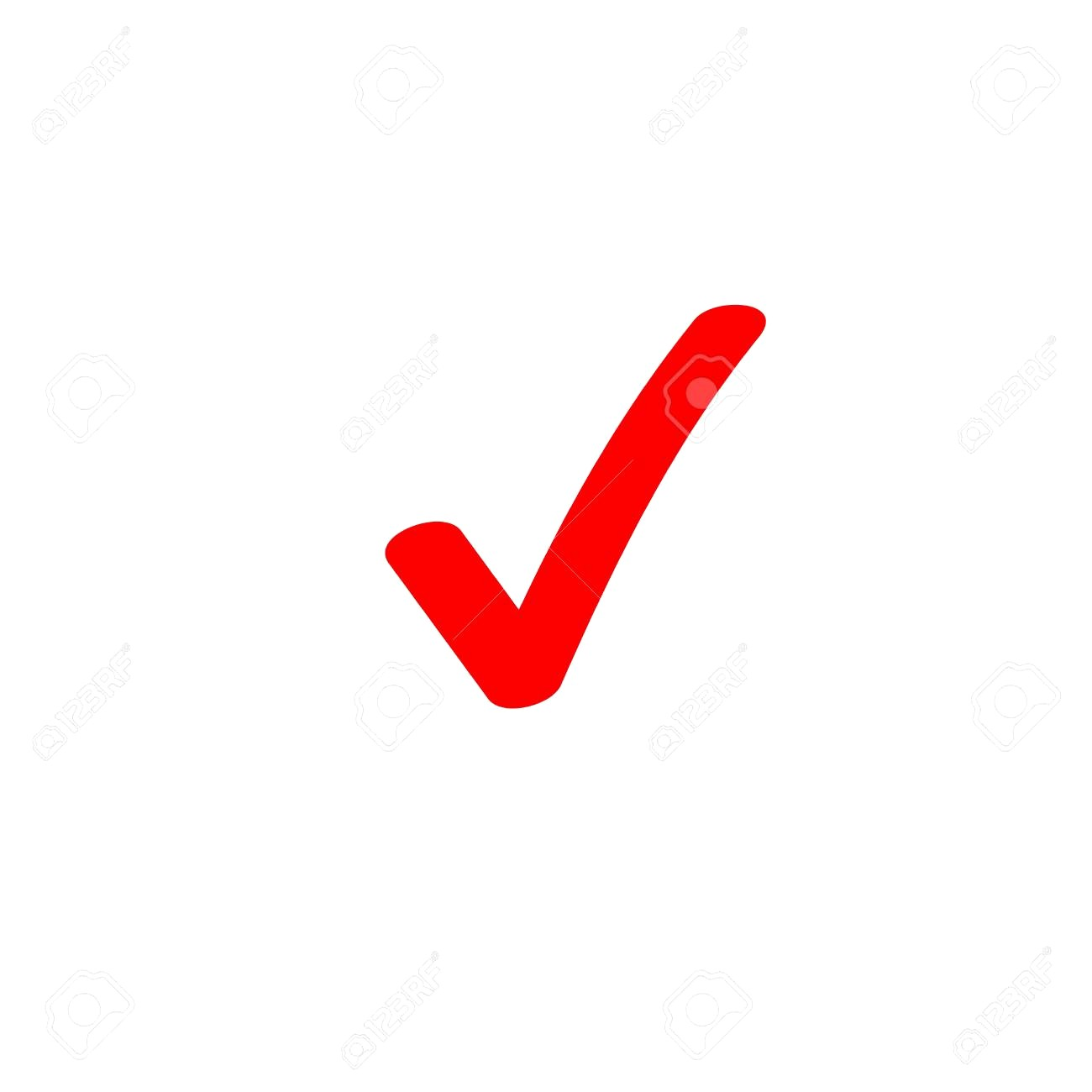 1300x1300 92204815 Tick Icon Vector Symbol Marker Red Checkmark Isolated On