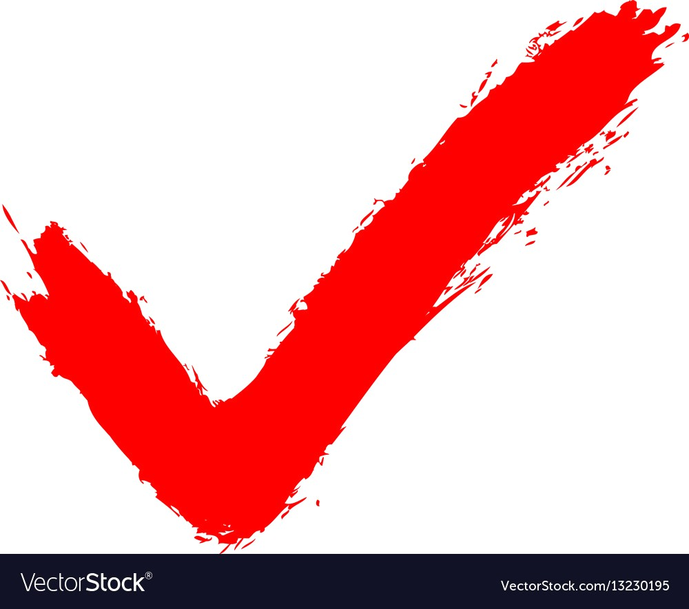 1000x884 Red Check Mark Sign Addition Icon Vector 13230195 16