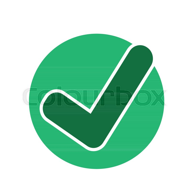 800x800 Tick Check Mark Icon Stock Vector Colourbox