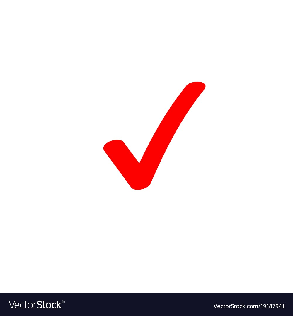 1000x1080 Tick Icon Symbol Marker Red Checkmark Vector 19187941 Check Mark