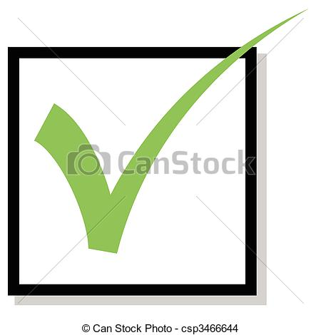 450x470 Check Mark . Check Box With Green Check Mark Isolated On White