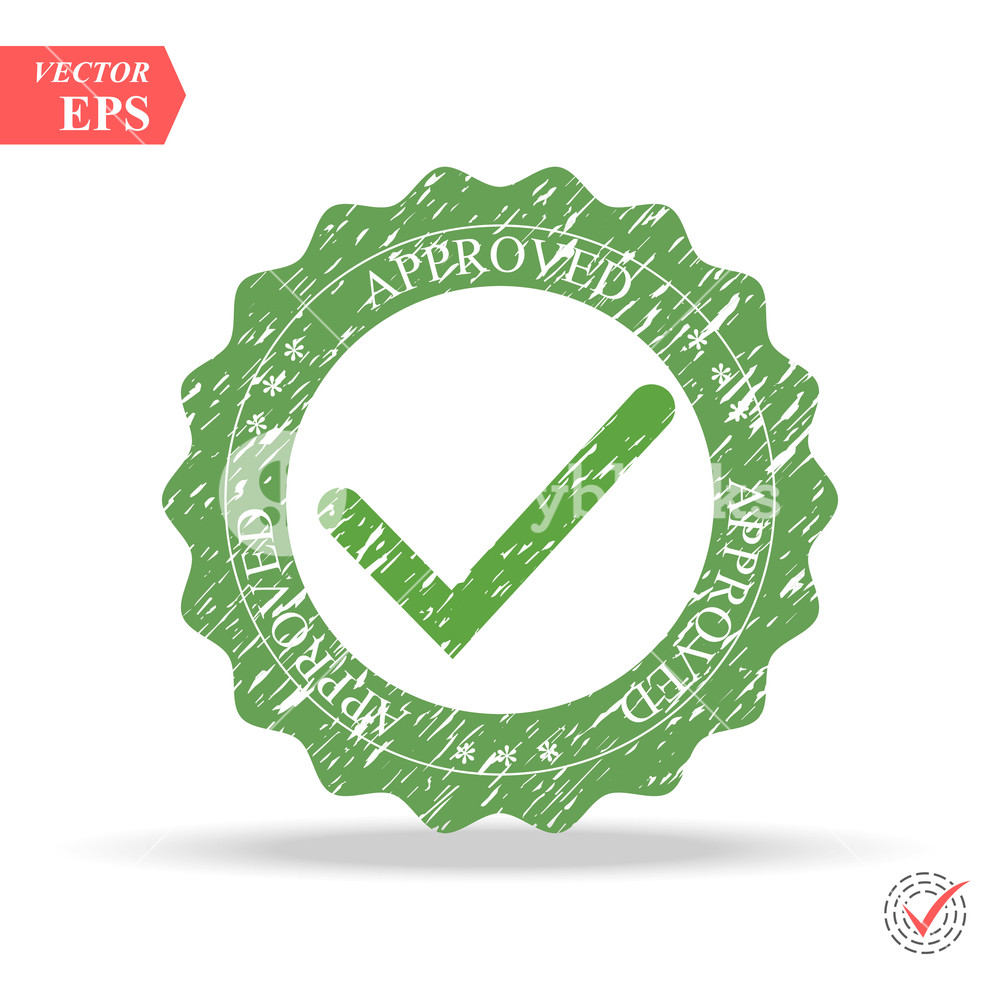 1000x1000 Tick Icon Vector Symbol, Green Checkmark Isolated On White