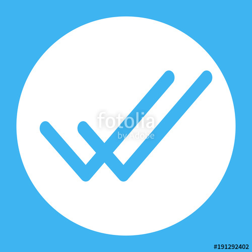 500x500 Whatsapp Delivered Message Icon, Two Blue Check Sign Vector