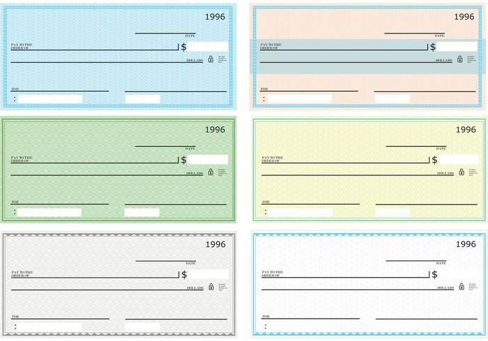 700x490 Blank Check Vector Pack