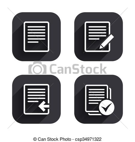 450x470 Document Icons. Upload File And Checkbox. File Document Icons