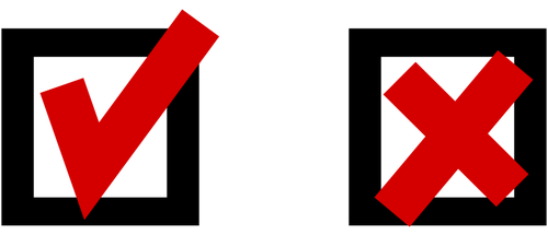 500x215 Tick And Cross Checkbox Vector Llustration Public Domain Vectors