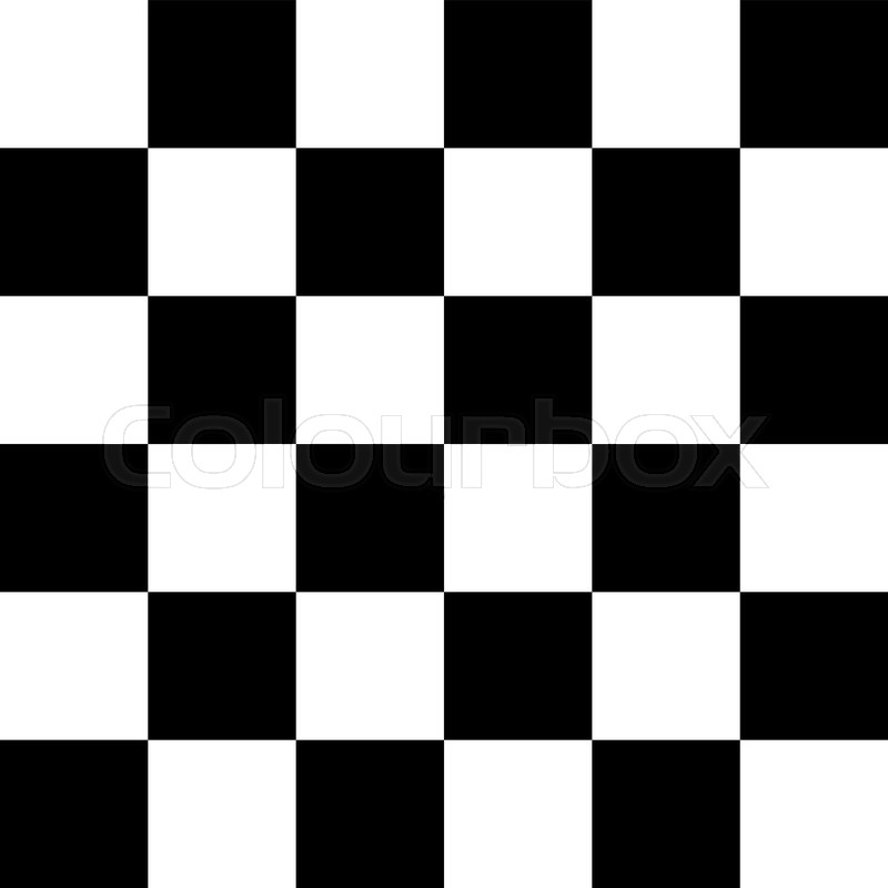 800x800 Modern Checkered Pattern Black And White Texture Chess Print