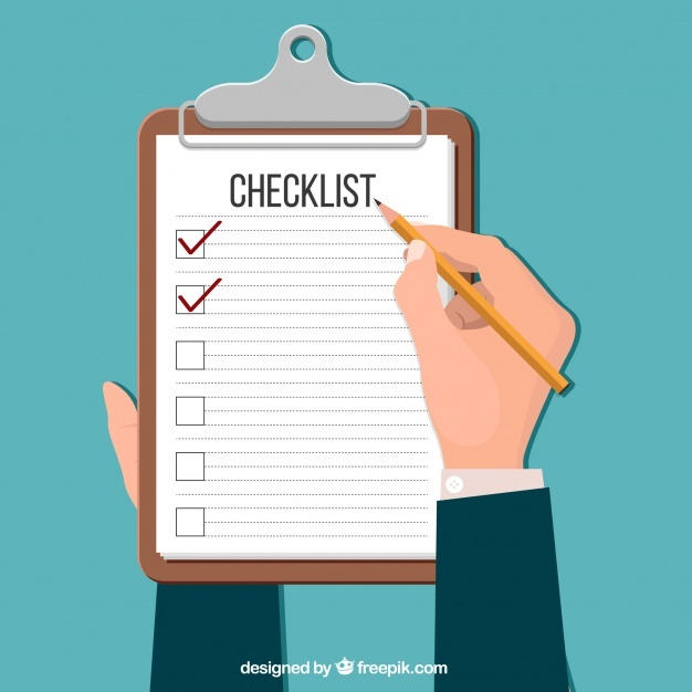 626x626 Checklist In Flat Design Vector Free Download