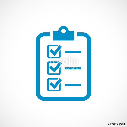 500x500 Checklist Vector Icon Stock Image And Royalty Free Vector Files
