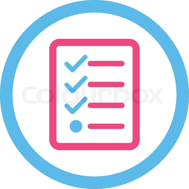800x800 Checklist Vector Icon. This Rounded Flat Symbol Is Drawn With Pink